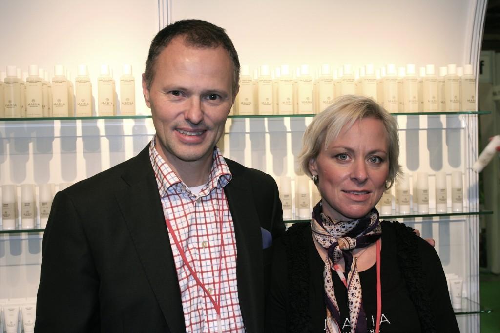 Maria Åkerberg fra svenske Dermanord er blant utstillerne på messen.