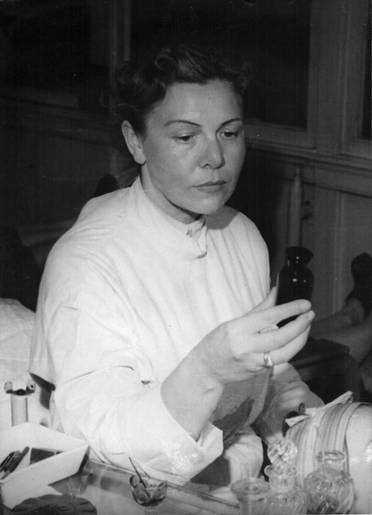 Dr. Christine Schrammek fotografert på 1950-tallet.