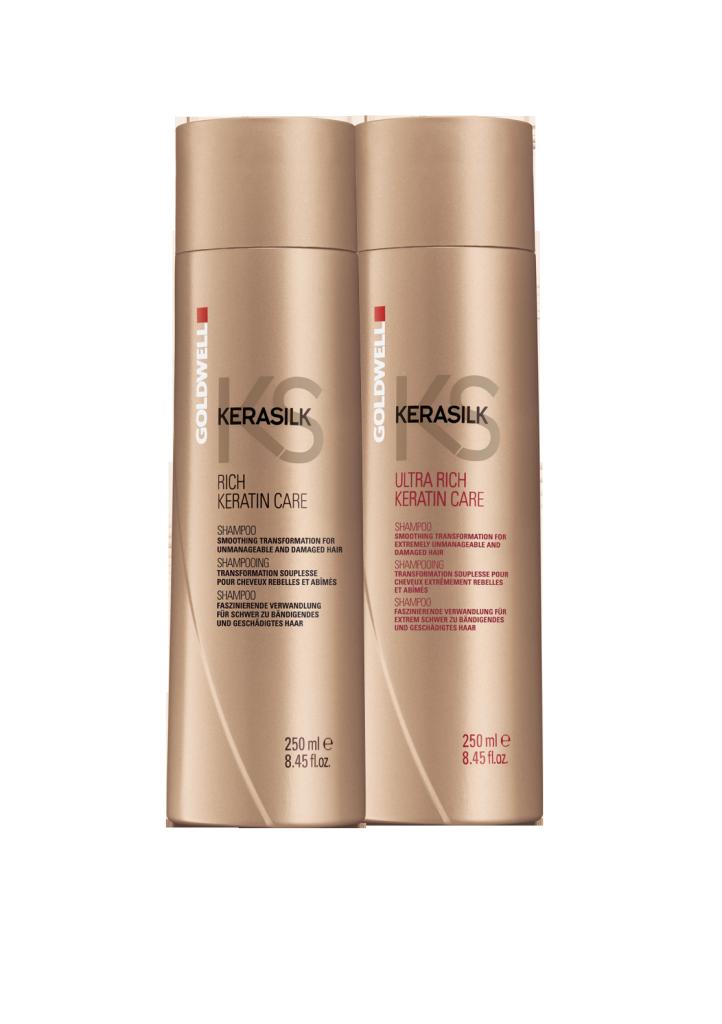 Kerasilk sjampo fra Goldwell gir glatt og medgjørlig hår, i tråd med trenden for keratinprodukter.
