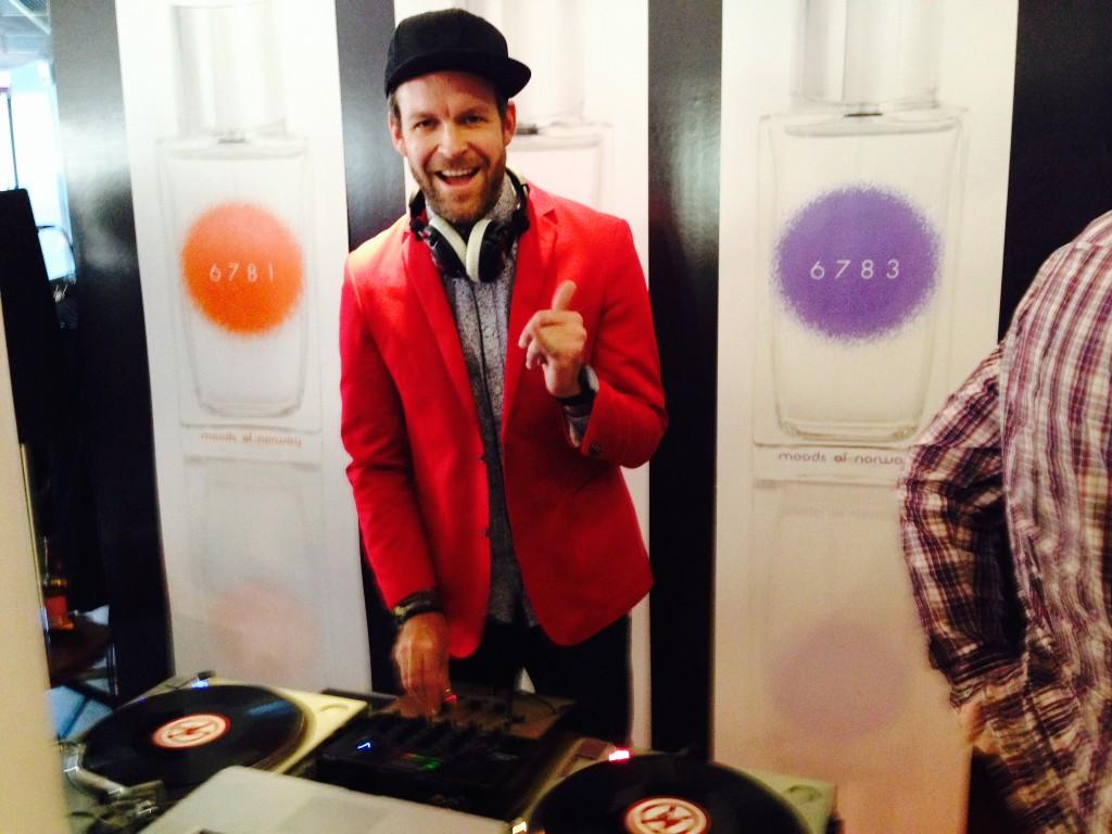 Peder Børresen var DJ på lanseringsfesten.