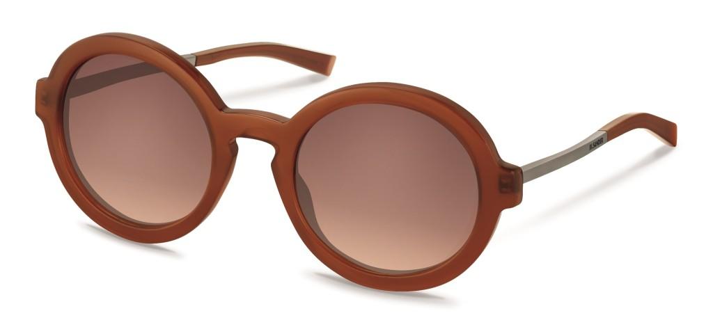 Runde solbriller fra Jil Sander.