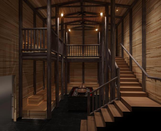 Blockhouse sauna.