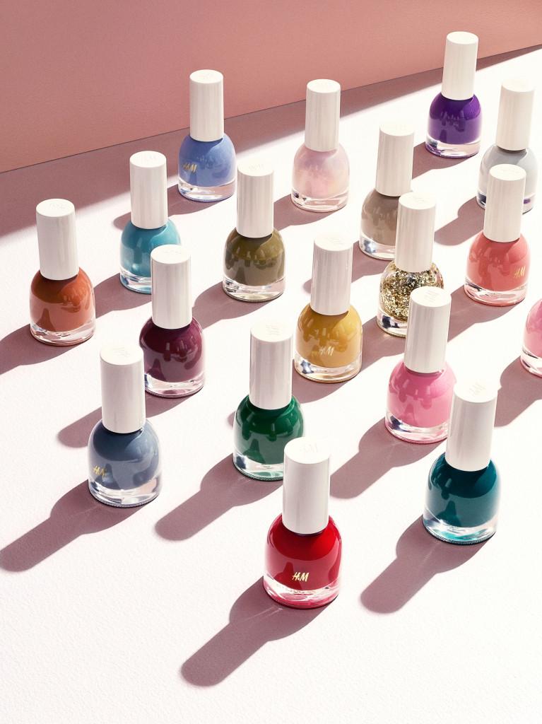 Neglelakker fra H&Ms nye skjønnhetsserie, som lanseres til høsten.