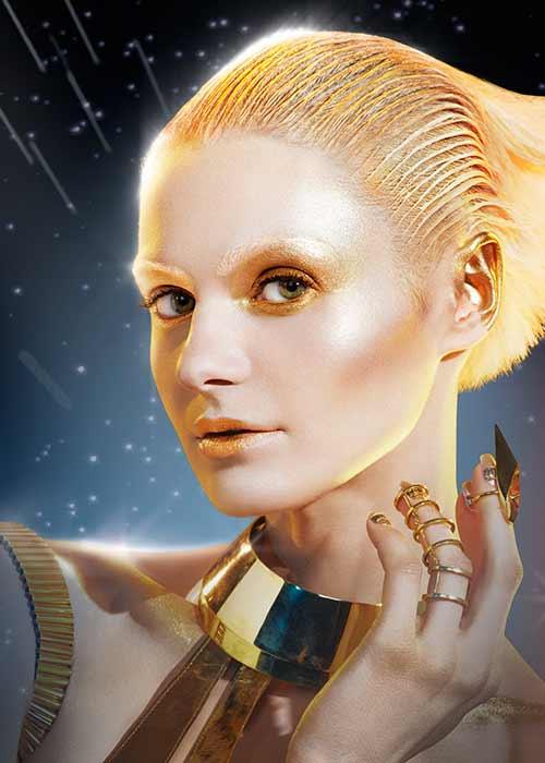 Droid-inspirert makeup fra Pat McGrath.